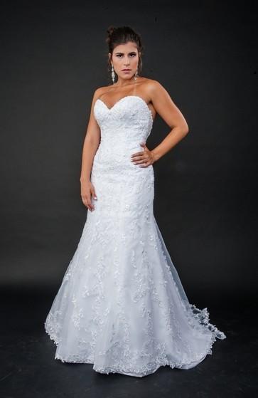 Vestidos de Noiva Clássico Piqueri - Vestido de Noiva Brilhante