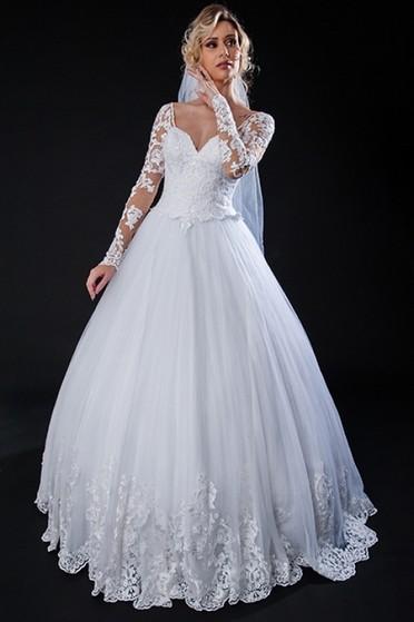 Vestidos de Noiva com Manga Mooca - Vestido de Noiva Clássico