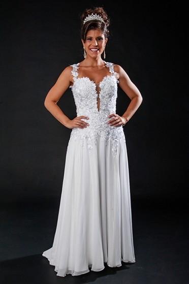 Vestidos de Noiva de Princesa São Bernardo do Campo - Vestido de Noiva Estilo Grego
