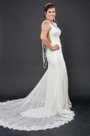 Vestidos de Noiva de Renda Jardim Paulistano - Vestido de Noiva de Renda