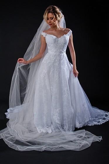 Vestidos de Noiva Estilo Grego Bela Vista - Vestido de Noiva com Manga
