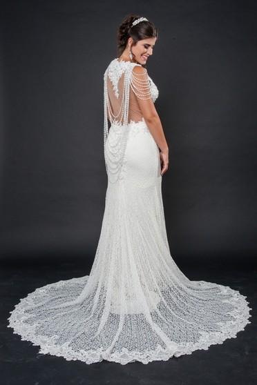 Vestidos de Noiva Sereia Itaquera - Vestido de Noiva Brilhante