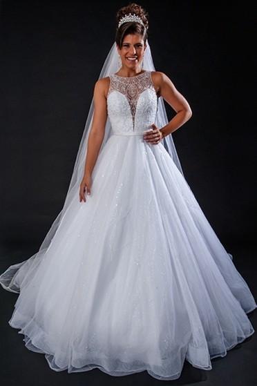 Vestidos de Noiva Simples Centro - Vestido de Noiva Brilhante